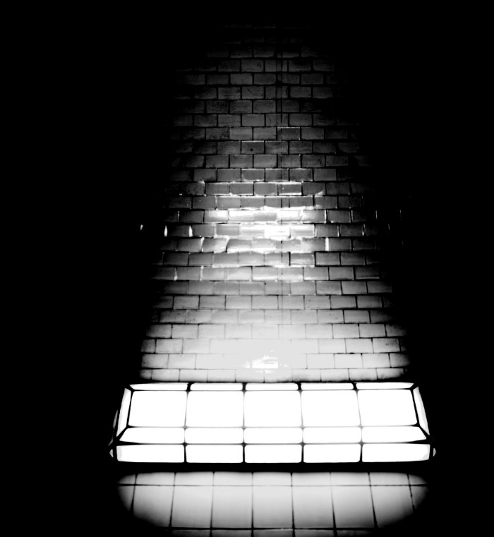 light and subway tiles