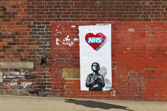 Street art on brick wall