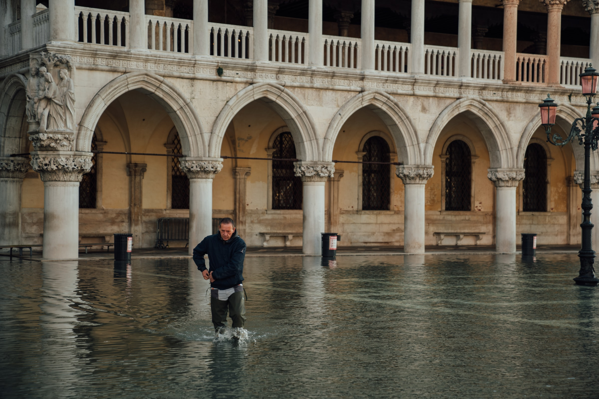 Flooded square